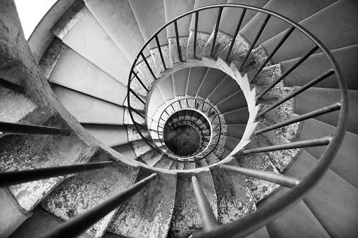 Spiral Stair, Old, Stone, Spiral, Staircase, Steps
