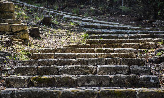 Stairway, Steps, Cobbled, Stairs, Rise, Old, Stone