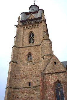 Church, Tower, Bad Wildungen, Architecture, Religion