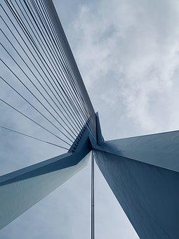 Bridge, Suspension, Concrete, Architecture, Water