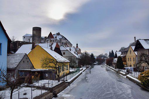 Jindřichův Hradec, Castle, Winter, Vajgar