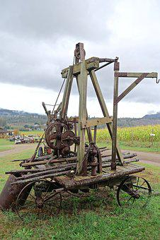 Machine, Agriculture, Pulley, Farming, Machinery