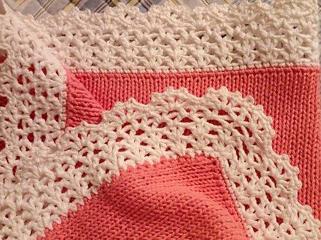 Knitting, Baby Blanket, Baby Girl, Newborn