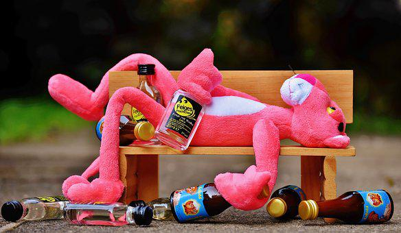 The Pink Panther, Drink, Alcohol, Drunk, Bank, Rest
