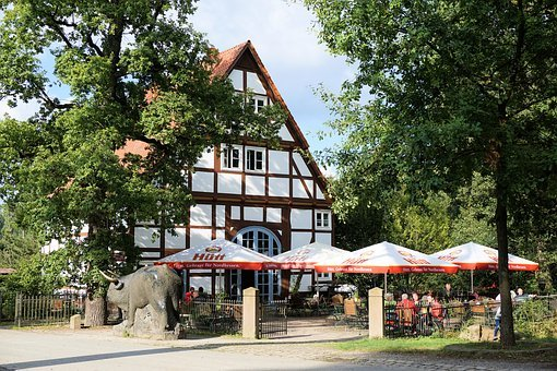 Beer Garden, Parasol, Gastronomy, Dining Tables, Chairs