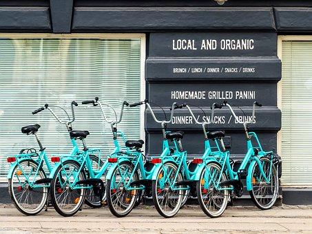 Bike, Bicycle, Parked, Bar, Ecology, Restaurant, Street