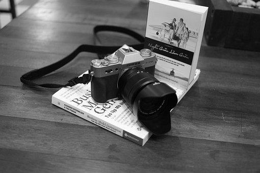 Fujifilm, 6 D, Canon, Page, Come, Monochrome, Books