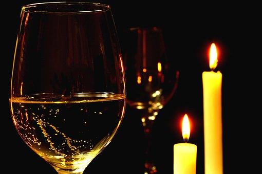 Romantic, Romantic Dinner, Wine, White Wine, Bowl