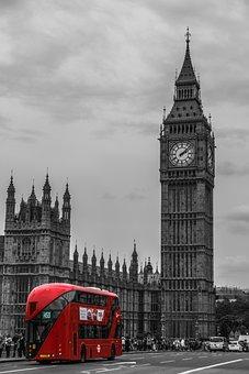 London, Bus, Double Decker Bus, Street Scene, Traffic