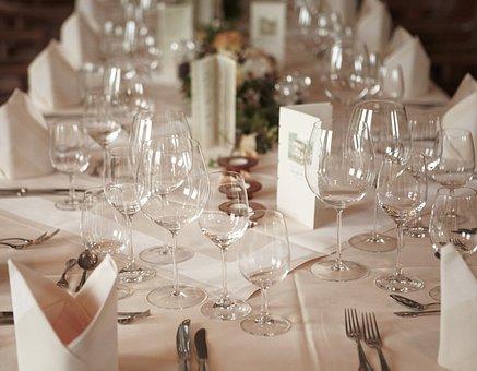 Wedding, Gedeckter Table, Celebration, Restaurant