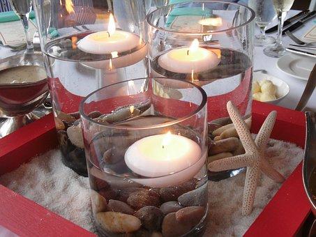 Candles, Table Setting, Dining, Decoration, Celebration