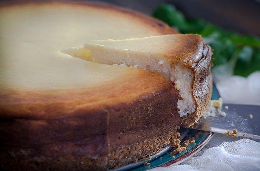 Cheesecake, Table, Dessert, Cream, Food, Cake, Pastry