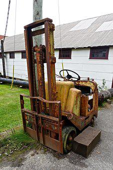 Tractor, Dilapidated, Fork Lift, Machinery, Corrosion
