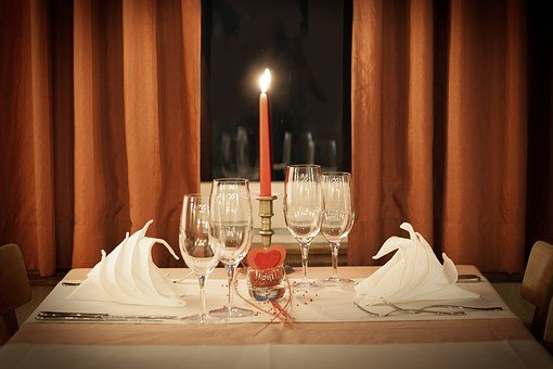 Table Decoration, Dinner For Two, Valentine's Day