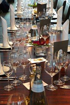 Table, Covered, Board, Economy, Dinner, Invitation