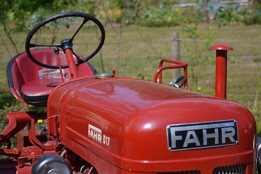 Old Tractor, Fahr, Vintage, Oldtimer, Farming, Antique