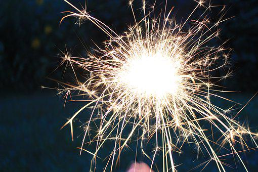 Sparkler, Dandelion, Fire