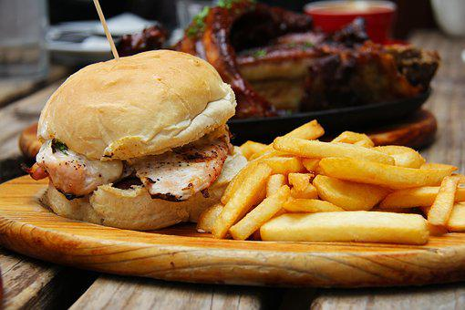 Burgers, Fries, Western, Food, Delicious, Dinner, Lunch