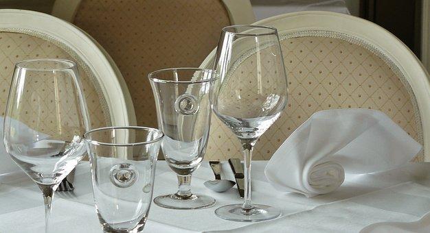 Restaurant, Cover, Glasses, Gastronomy, Eat, Table