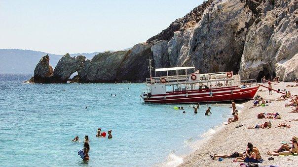 Greece, Skiathos, Island, Beach, Rock, White, Sporades