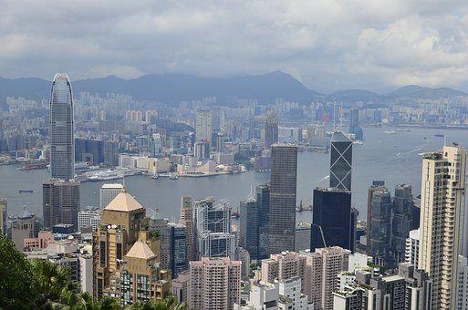 Hong Kong Skyscrapers, Peak, Bus, Cityscape, Finance