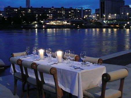Candle Light Dinner, Eat, Table, Dinner, Invitation