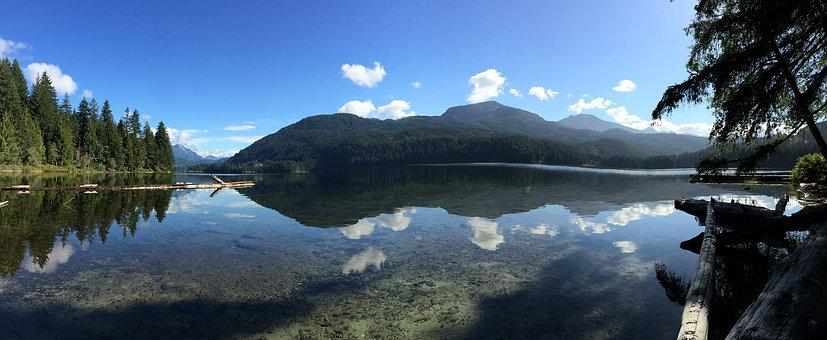 Lake, Mountain, Sky, Summer, Blue, Forest, Scenery
