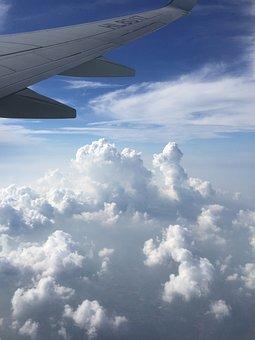Jeju Island, Vacation, Landscape, Cloud, Flight, Plane