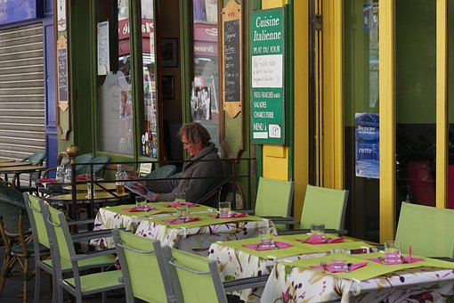 Dining, Lime Green, Outdoor, Restaurant, Green, Lunch