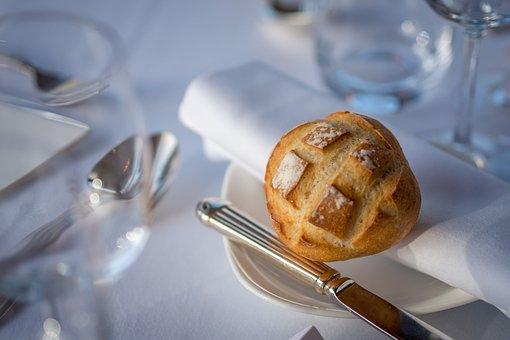 Bread, Roll, Napkin, Elegant, Food, Lunch, Dinner