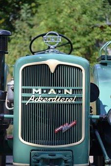 Old Tractor, Man, Vintage, Oldtimer, Farming, Antique