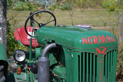 Old Tractor, Normag, Vintage, Oldtimer, Farming