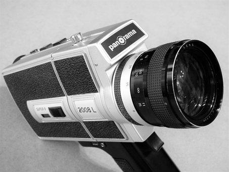 Camera, Cinematographic Cameras, Super8, Panorama, Old