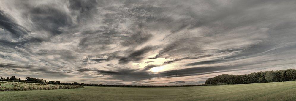Sky, Cloud, Panorama, Grey, Dramatic, Storly, Rainy