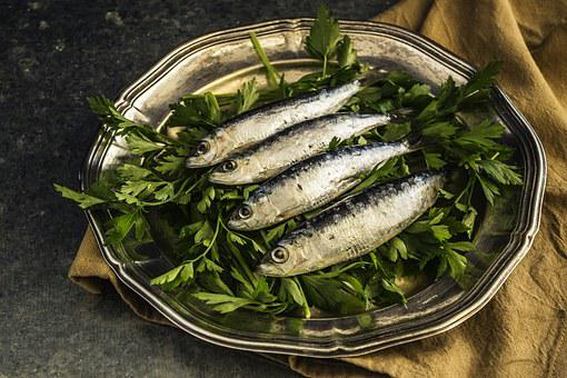 Sardines, Fish, Lunch, Healthy, Plate, Delicious, Omega
