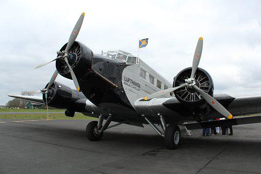 Airplane, Junkers, Propeller, Machine, Aircraft, Plane