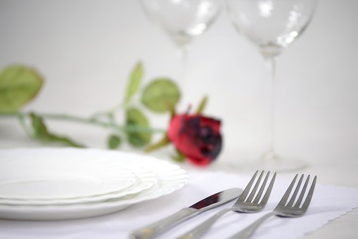 Elegant Tableware, Rose, Romantic, Plate, White