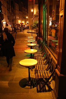 Paris, Dining Tables, Bistro, Table, Dinner, Romantic