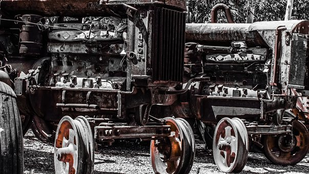 Tractor, Old, Rusty, Machinery, Abandoned, Destroyed