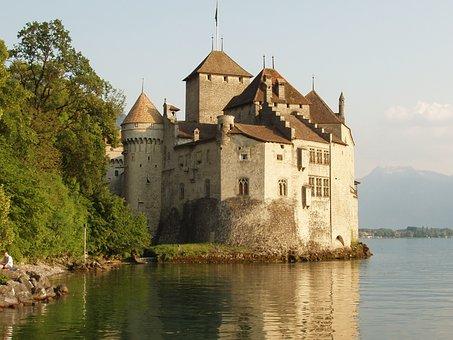 Lake, Lausanne, Switzerland, Lake Geneva, Sky, Water