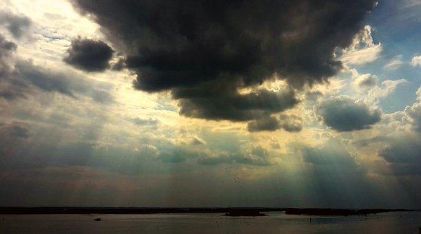 Sunbeam, Weather, Weather Mood, Sky, Clouds, Sunlight