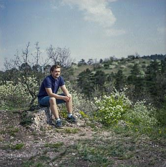 Hiking, Rest, Young, Guy, Nature, Travel, Hiker, Person