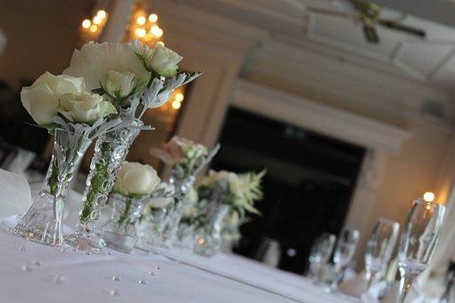 Wedding, Tables, Decoration, Celebration, Party, White