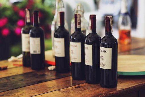 Bottle, Wine, Red, Alcohol, Couple, Dinner, Romance