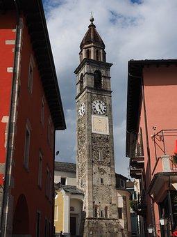 Steeple, Church, Tower, Ascona, Santi Pietro E Paolo