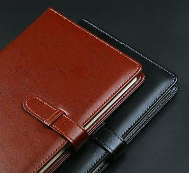 Leather Present, Note, Notebook, Book, Business, Paper
