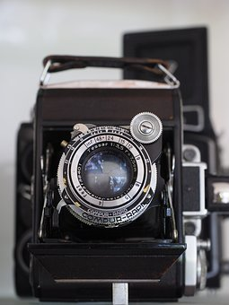 Camera, Old, Lens, Compur Shutter, Central Lock Type