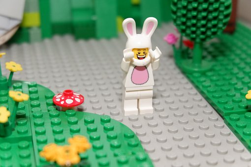 Easter Bunny, Easter, Rabbit, Spring, Lego