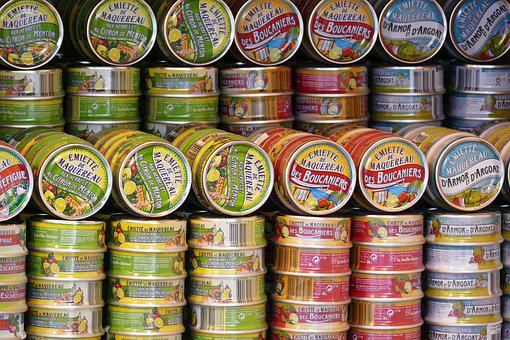 Canning, Cans, Finished Products, Eat, Tin Can, Fish