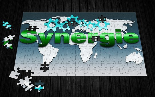 Synergy, Map Of The World, Gears, Business, Offer
